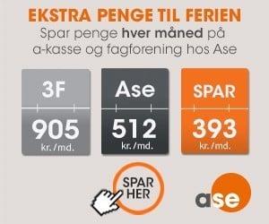 ASE » uafhængig a-kasse » spar penge hver måned
