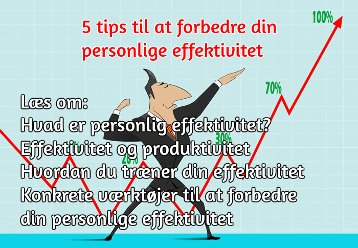 5 tips til at forbedre din personlige effektivitet